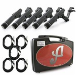 Kit com 5 Microfones Dinâmicos Arcano Renius-7d-kit
