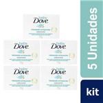 Kit com 5 Sabonete Dove Baby Hidratação Enriquecida 75g