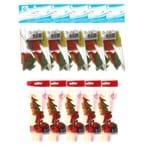 Kit com 50 Canudos Flexíveis Frutas + 50 Palitos em Madeira de Frutas