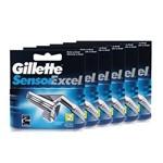 Kit com 6 Cargas Gillette Sensor Excel C/2 Unidades