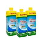 Kit com 3 Algicida de Choque 1 Litro Cada - Genco