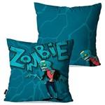 Kit com 2 Almofadas Decorativas Azul Zombie