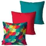Kit com 3 Almofadas Decorativas Collors