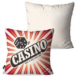 Kit com 2 Almofadas Decorativas Off White Casino