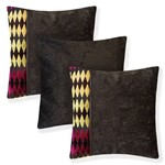 Kit com 3 Almofadas Decorativas para Sala Sofá 45x45 Losango