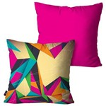Kit com 2 Almofadas Decorativas Pink Abstrata