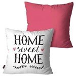 Kit com 2 Almofadas Decorativas Rosa Home Sweet Home