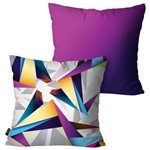 Kit com 2 Almofadas Decorativas Roxo Degradê Abstrata