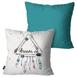 Kit com 2 Almofadas Decorativas Turquesa Dreams
