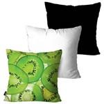 Kit com 3 Almofadas Decorativas Verde Kiwi