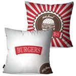 Kit com 2 Almofadas Decorativas Vermelho Burgers