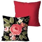 Kit com 2 Almofadas Decorativas Vermelho Flowers