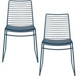 Kit com 2 Cadeiras Nicole Azul Noturno - Carraro