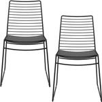 Kit com 2 Cadeiras Nicole Preto - Carraro