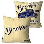 Kit com 2 Capas para Almofadas Decorativas Bege Brooklyn