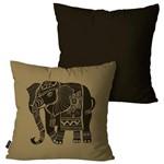 Kit com 2 Capas para Almofadas Decorativas Chumbo Elefante