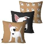 Kit com 3 Capas para Almofadas Decorativas Dog