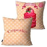 Kit com 2 Capas para Almofadas Decorativas Salmão Cupcake