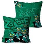 Kit com 2 Capas para Almofadas Decorativas Verde Zombie