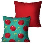 Kit com 2 Capas para Almofadas Decorativas Vermelho Cerejas