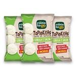 Kit com 3 Chips de Tapioca TAPIOKITAS Sabor Cebola e Salsa 35g