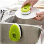 Kit com 3 Esponjas com Capsula para Detergente Basic Kitchen