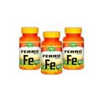 Kit com 3 Ferro Quelato FE - Unilife - 60 Cápsulas Vegetarianas
