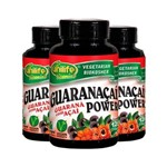 Kit com 3 Guaranaçaí Power Guaraná com Açaí - Unilife - 120 Cápsulas