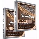 Kit com 2 Jogos de Cordas Violão Aço Ws 10 Strinberg Encordoamento 010