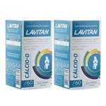 Kit com 2 Lavitan Cálcio +Vitamina D3 600mg C/60 Comprimidos