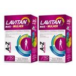 Kit com 2 Lavitan Mais Mulher A-Z C/90 Comprimidos