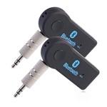 Kit com 2 Receptores Bluetooth Usb para P2, Entrada Auxiliar, Som de Carro