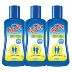 Kit com 3 Repelex Family Care Citronela Repelente Loç 100ml