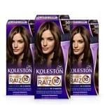 Kit com 3 Tinturas Koleston Retoque de Raiz Castanho Claro