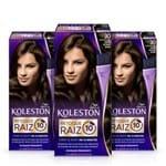 Kit com 3 Tinturas Koleston Retoque de Raiz Castanho Escuro