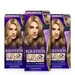 Kit com 3 Tinturas Koleston Retoque de Raiz Louro Claro