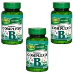 Kit com 3 Vitamias do Complexo B (b1,b2,b3,b5,b6,b7,b9,b12)