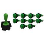 Kit Comando Aegir 10 Botões de Nylon - Verde