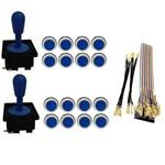 Kit Comandos 2 Peças 16 Botões Corpo Branco Gpio - Azul