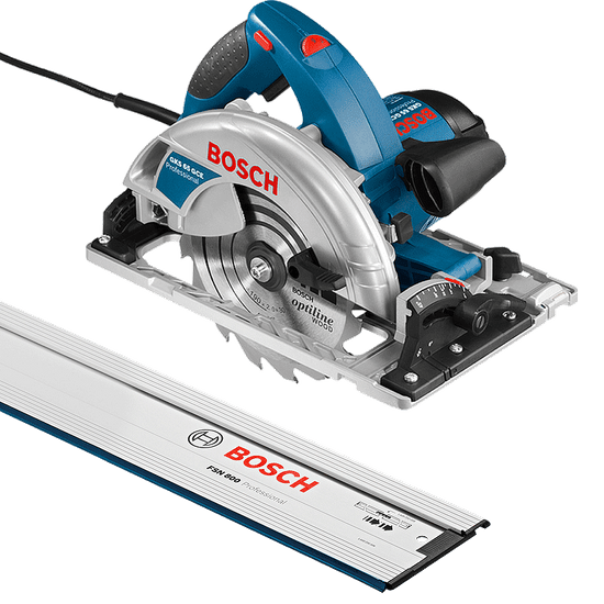 Kit Combo Serra Circular GKS 65 GCE + Trilho de 80cm FSN 800 - Bosch - 220 Volts