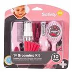 Kit Completo de Higiene e Beleza Rosa10 Pcs Safety S262ih