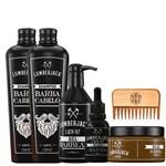 Kit Completo para Fazer Barba Profissional Mais Tônico de Barba Cresce Barba