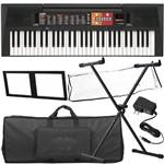 Kit Completo Teclado Psr-f51 Yamaha 61 Teclas 114 Estilos 30 Músicas 32 Notas Multi Funções
