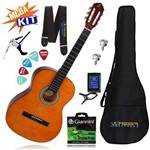 Kit Completo Violão Acustico Start Nylon N-14 Natural Giannini