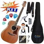 Kit Completo Violão Elétrico Folk Aço Sd20 Mahogany Strinberg