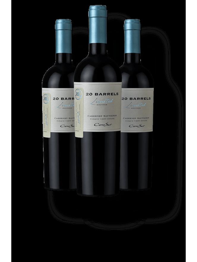 Kit 3 Cono Sur 20 Barrels Limited Edition Cabernet Sauvignon