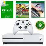 Kit Console Microsoft Xbox One S 500gb com Jogo Forza Horizon 3 + Jogo Pes 2018 + Live 3 Meses