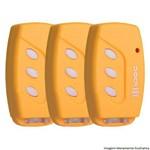 Kit 3 Controles Remoto Tx Deco 433mhz Ipec Amarelo