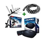 Kit Conversor Digital Aquário DTV-5000 + Antena Externa DTV-1500 + Organizador de Cabos