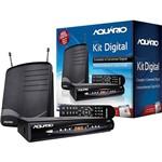 Kit Conversor e Gravador Digital Aquário + Antena Dtv 1100